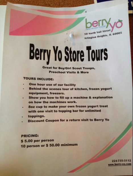 Berry Yo Store Tours