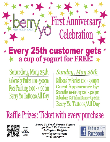 Berry Yo's First Year Anniversary Celebration!