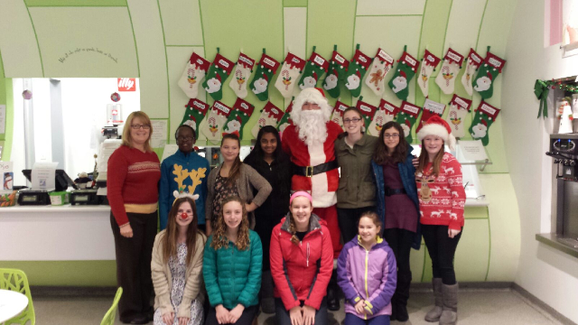 Santa Brings Christmas to Berry Yo 2014