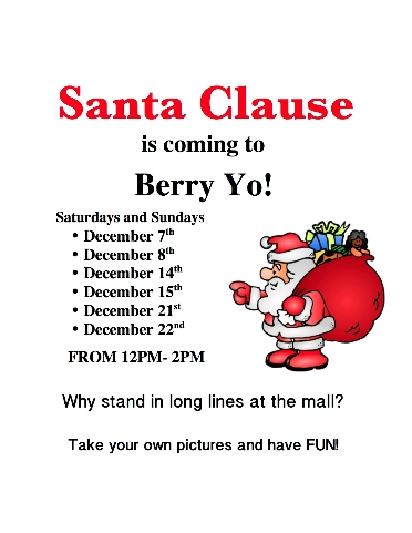 Santa Comes to Berry Yo!