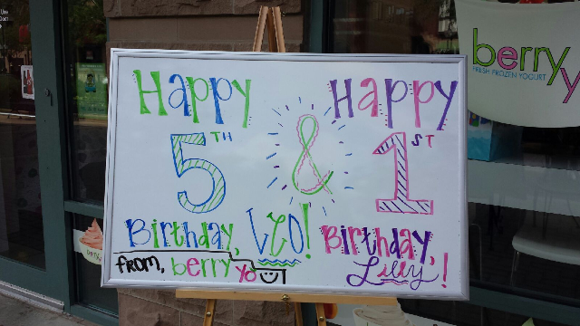 Two Birthdays, One Berry Yo Bash!