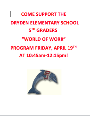 World Of Work - Dryden Elementary