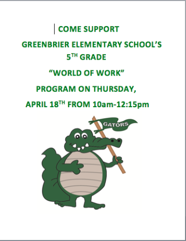 World of Work - Greenbrier Elementary